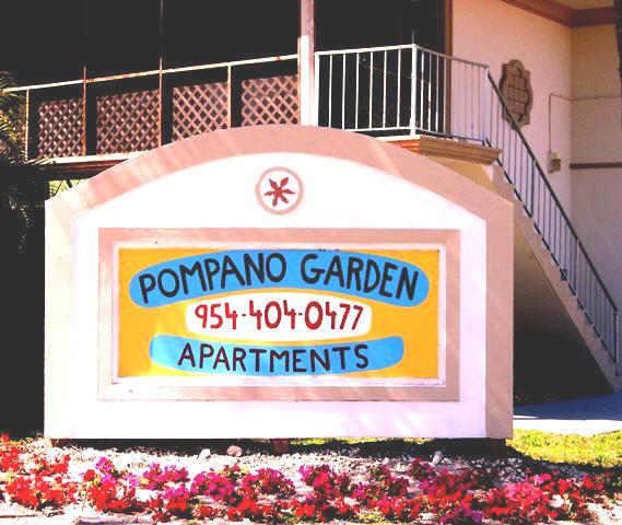 Pompano Beach Apartments: Welcome To The Pompano Garden Apartments